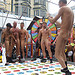 Naked twister at the Up Your Alley Fair