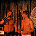 Brent Corrigan and Julian Marshburn emceeing a fundraiser in our home
